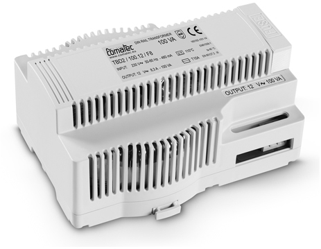 14.  DIN RAIL TRANSFORMERS 100 VA ! 8 MODULE CASE. HIGH EFFICIENCY THANKS TO THE USE OF TOROIDAL TRANSFORMERS